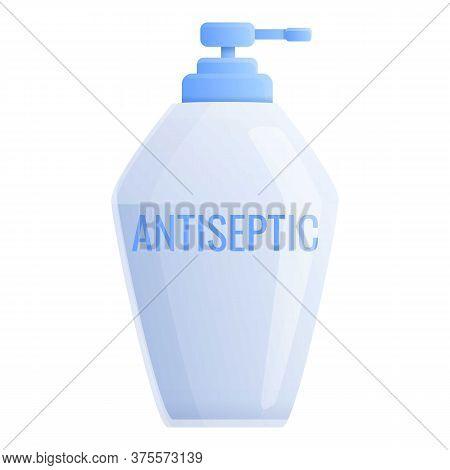 Antiseptic Alcohol Bottle Icon. Cartoon Of Antiseptic Alcohol Bottle Vector Icon For Web Design Isol