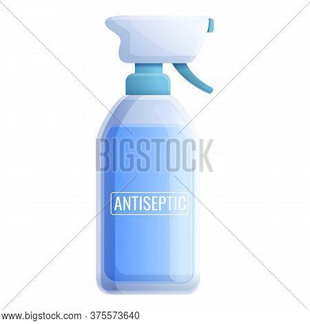 Antiseptic Spray Bottle Icon. Cartoon Of Antiseptic Spray Bottle Vector Icon For Web Design Isolated