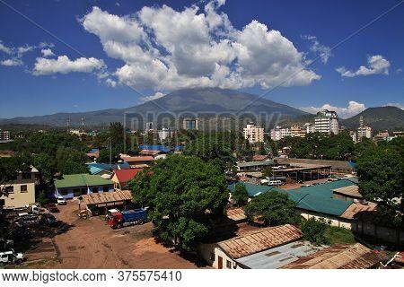Arusha / Tanzania - 03 Jan 2017: Mountain In Arusha City, Tanzania