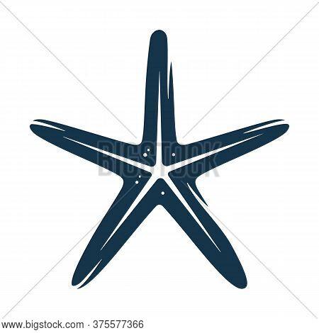 Silhouette Of Marine Star Fish, Exotic Starfish