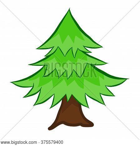 Tree Isolated Illustration On White Background. Vector
