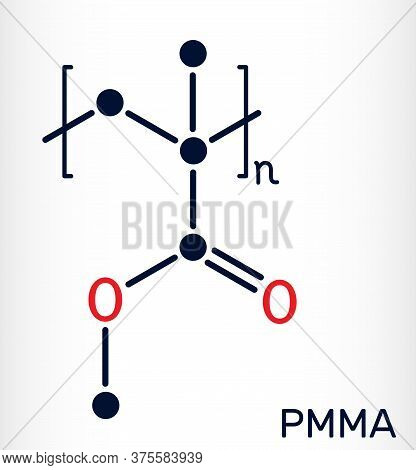 Poly Methyl Methacrylate , Acrylic Glass, Plexiglass, Pmma Molecule. It Is Synthetic Polymer Of Meth