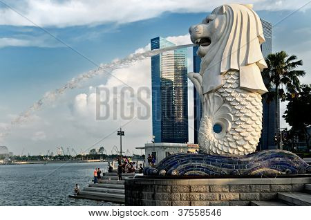Singapore Merlion Statue