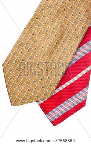 Closeup Of Two Ties