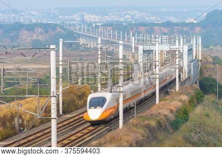 Taiwan High Speed Rail At Miaoli, Taiwan