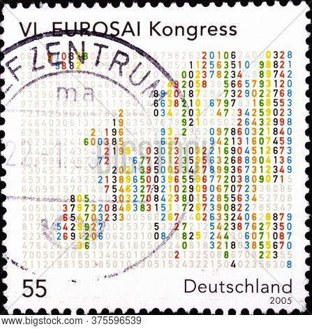 02 08 2020 Divnoe Stavropol Territory Russia The Germany Postage Stamp 2005 The 6th Eurosai Congress