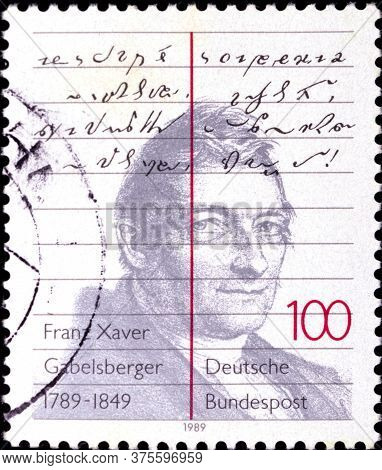 02 08 2020 Divnoe Stavropol Territory Russia The Germany Postage Stamp 1989 The 200th Anniversary Of