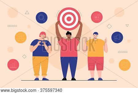 Vector Illustration Of A Target Audience Particular Group Of Consumers Within The Predetermined Targ