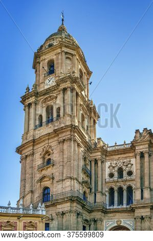 Cathedral Of Malaga Is A Renaissance Church In The City Of Malaga In Andalusia In Southern Spain.it