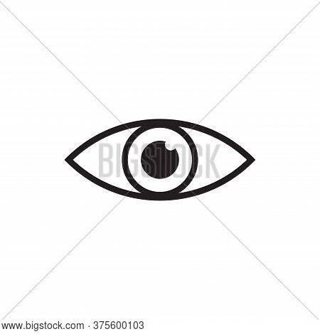 Eye Icon Isolated On White Background. Eye Icon In Trendy Design Style For Web Site And Mobile App.