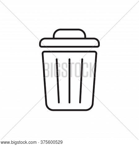 Trash Can Icon Isolated On White Background. Trash Can Icon In Trendy Design Style For Web Site And