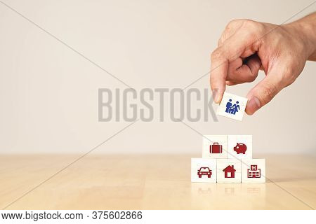 Hand Of Businessman With Concept Of Coronavirus Impact Economic And Family Financial High Cost Of Li