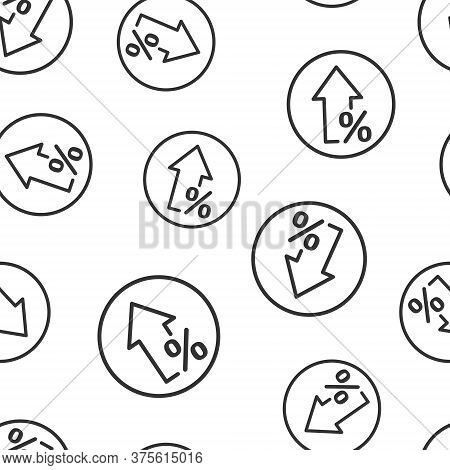 Growth Arrow Icon In Flat Style. Revenue Vector Illustration On White Isolated Background. Increase