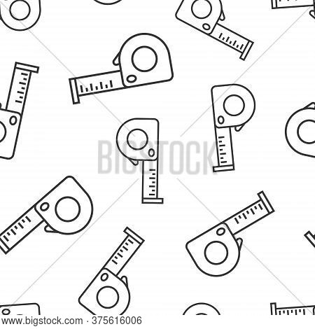 Measure Tape Icon In Flat Style. Ruler Sign Vector Illustration On White Isolated Background. Meter