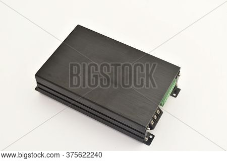 Car Amplifier Isolated On White Background, Auto Audio Amplifier For Cars ,