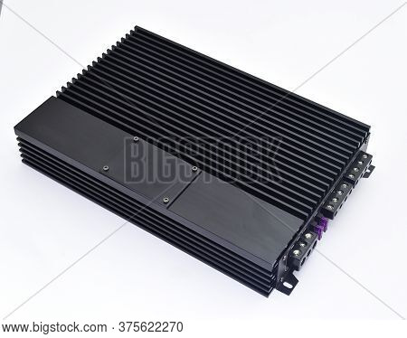Car Amplifier Isolated On White Background, Auto Audio Amplifier For Cars , Car Accessories