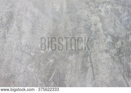Textures Of Old Uneven Cement Wall With Hole For Background.