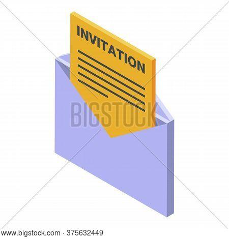 Headhunter Invitation Icon. Isometric Of Headhunter Invitation Vector Icon For Web Design Isolated O