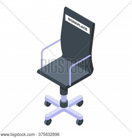 Free Workplace Icon. Isometric Of Free Workplace Vector Icon For Web Design Isolated On White Backgr