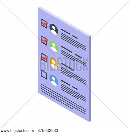 Recruiter People Icon. Isometric Of Recruiter People Vector Icon For Web Design Isolated On White Ba