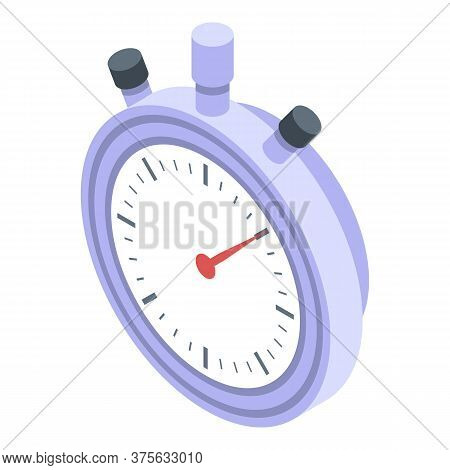 Recruiter Stopwatch Icon. Isometric Of Recruiter Stopwatch Vector Icon For Web Design Isolated On Wh