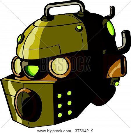 Yellow robot head