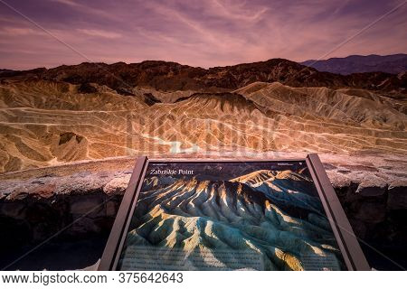 Zabriskie Point, Death Valley, California, Usa