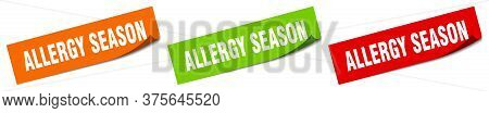 Allergy Season Sticker. Allergy Season Square Isolated Sign. Allergy Season Label