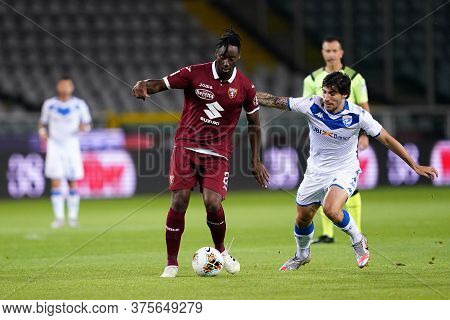 Torino (italy) , 08th July 2020. Italian Serie A. Soualiho Meite Of Torino Fc    During The Serie A