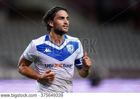 Torino (italy) , 08th July 2020. Italian Serie A.  Ernesto Torregrossa  Of Brescia Calcio  During Th