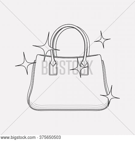 Handbag Cleaning Icon Line Element. Vector Illustration Of Handbag Cleaning Icon Line Isolated On Cl