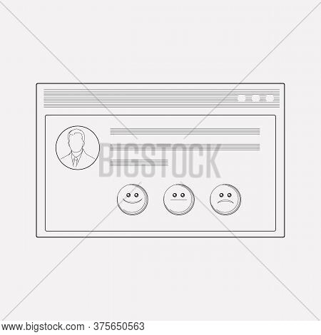 Customer Testimonials Icon Line Element. Vector Illustration Of Customer Testimonials Icon Line Isol