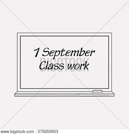 Blackboard Icon Line Element. Vector Illustration Of Blackboard Icon Line Isolated On Clean Backgrou