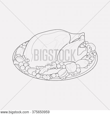 Turkey Icon Line Element. Vector Illustration Of Turkey Icon Line Isolated On Clean Background For Y