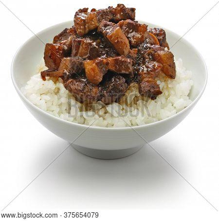 ru rou fan, taiwanese braised pork rice bowl