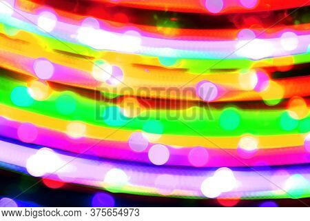Cute Xmas Moving Shifted City Rays Texture - Abstract Photo Background