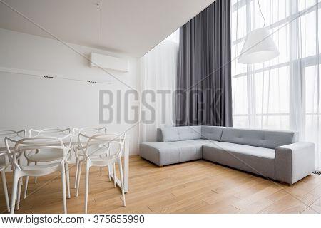 Home Interior With Corner Sofa