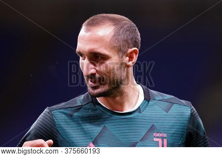 Milano (italy) - 07th July 2020. Italian Serie A. Giorgio Chiellini Of Juventus Fc In Action During