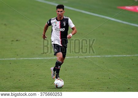 Milano (italy) - 07th July 2020. Italian Serie A. Cristiano Ronaldo Of Juventus Fc In Action During
