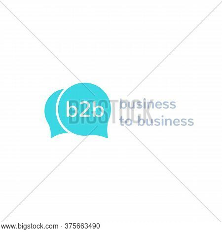 B2b, Business To Business, Vector Logo, Eps 10 File, Easy To Edit