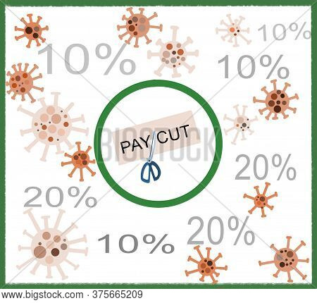 Pay Cut Of Ten To Twenty Percent Salary Of Employees In Coronavirus Crisis. Business Have To Survive