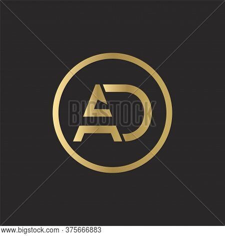Ad Logo Design Business Typography Vector Template. Creative Linked Letter Ad Logo Template. Ad Font
