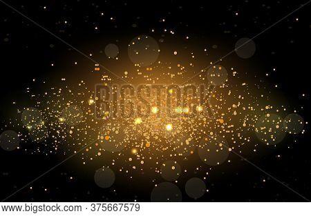 Glowing Sparkles Glare Light Effect . Sparks Flickering Lights. Vector Illustration.