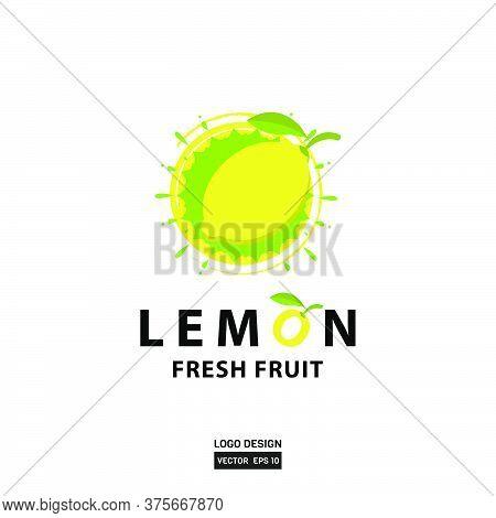 Lemon Splash Logo Design Template For Flavor Design Element Product