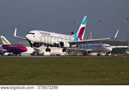 Vienna / Austria - April 18, 2019: Eurowings Boeing 737-800 D-abkn Passenger Plane Arrival And Landi