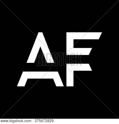 Af Logo Design Business Typography Vector Template. Creative Linked Letter Af Logo Template. Af Font