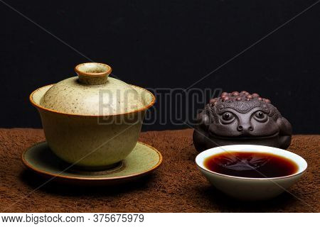 Image Of Tea Cup Toad Dark Background