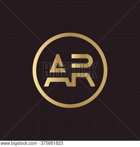 Ar Logo Design Business Typography Vector Template. Creative Linked Letter Ar Logo Template. Ar Font