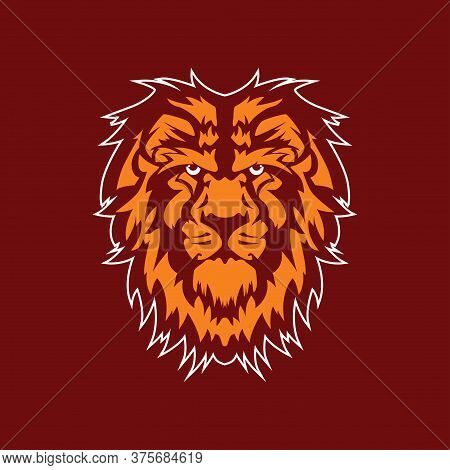 Predator Animal. Lion Mascot Color Logo, Lion Vector Ilustration