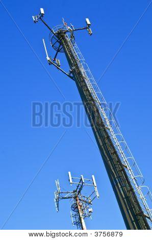 Two Telecommunication Antennas